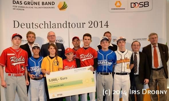 Grünes Band Stuttgart ID Nachwuchsförderpreis Grünes Band an Stuttgart Reds verliehen