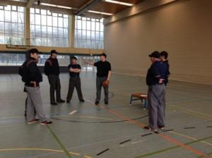 Praxisübungen im A-Lehrgang Baseball