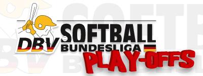Logo Softball BL Play offs Wesseling Vermins und Neunkirchen Nightmares spielen um Deutsche Softball Meisterschaft