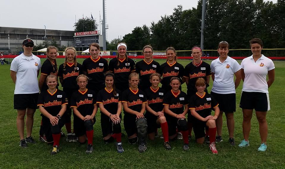U16w Jugend Colecchio Softball Jugendnationalmannschaft belegt Rang 2 bei Turnier in Italien