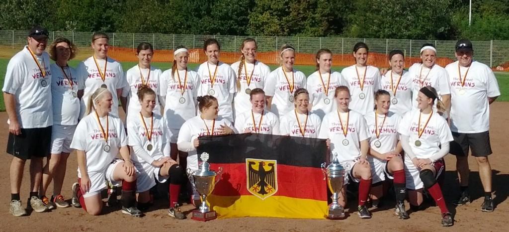 Wesseling Vermins 1024x466 Wesseling Vermins Deutscher Softball Meister 2014