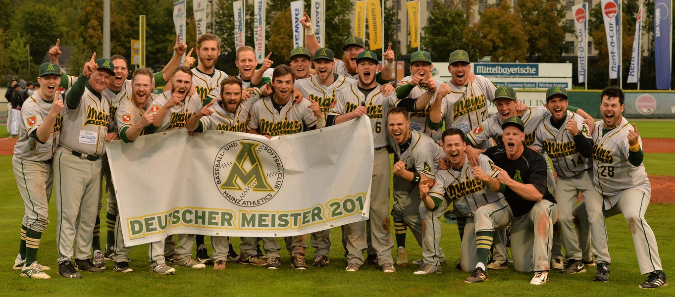 Deutscher Baseballmeister Mainz Athletics 2016 (Foto: Gregor Eisenhuth)