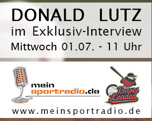 Donald Lutz Bases Loaded Banner 300px Nationalspieler Donald Lutz am Mittwoch im Interview bei Bases Loaded auf Meinsportradio.de