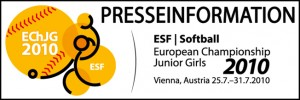 ESF Softball Presseinformation 2010 300x100 Italien neuer Softball Juniorinnen Europameister