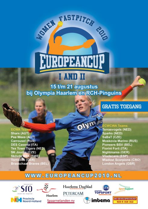 ec softball poster 2010 Europäisches Highlight