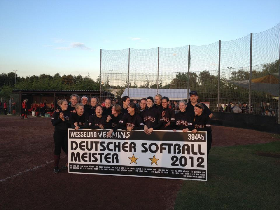 wesseling vermins deutscher softball meister Wesseling Vermins Deutscher Softball Meister 2012